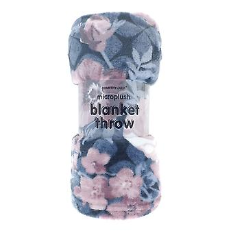 Country Club Printed Blanket, Grey Blossom