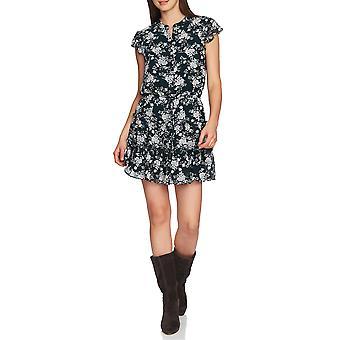 1.State | Floral Print Tiered ruffle klänning
