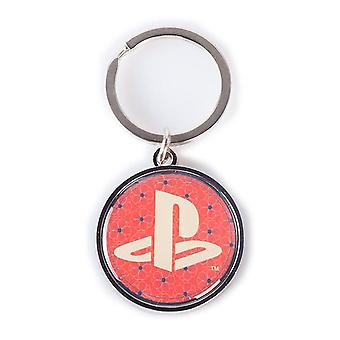 Sony Playstation Biker Logo Metal Keychain Red/Black (KE330552SNY)