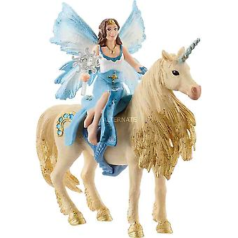Schleich Eyela riding on golden unicorn Bayala