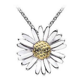 Dew Sterling Silver Daisy With Gold Plate Pendant 90CAGD016