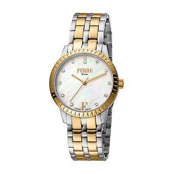 Ferre Milano Women's FM1L128M0261 MOP Dial Two-Tone IP Steel Wristwatch