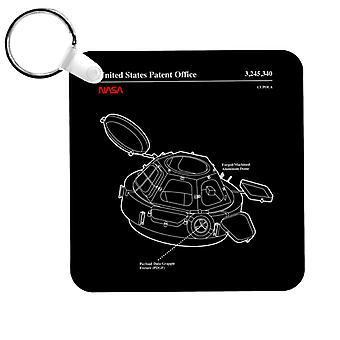 NASA Cupola Observation Hatch Blueprint Keyring