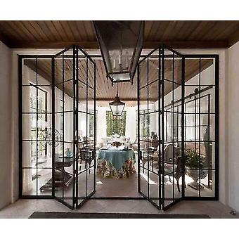 Frame Metal Modern Door- Replacement Glass Steel For Windows