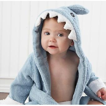 Cartoon Hooded, Bathrobe Towel For Baby