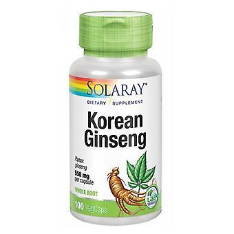 Solaray Coreano Ginseng, 550 mg, 100 Caps