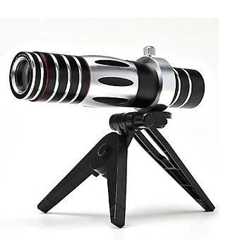 Mobile Phone Universal Zoom Telescope 5-15x Zoom Mobile Phone Optical Zoom Telescope Long Lens Night Vision