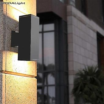 Outdoor Wall Lamps Square Garden Led Waterproof Up Down