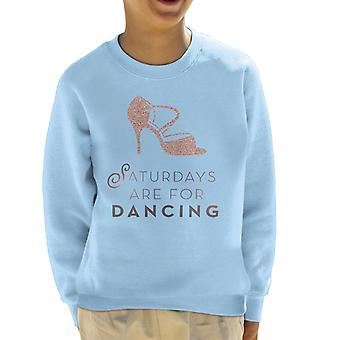 Strictly Come Dancing Saturdays Are For Dancing Glitter Stiletto Kid's Sweatshirt