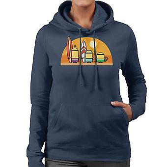 Despicable Me Minions Surfing Sunset Women's Hooded Sweatshirt