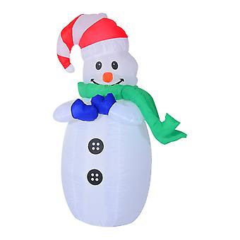 HOMCOM Inflatable Standing Christmas Decoration Large Waterproof Snowman 120cm Tall with LED and Inflator