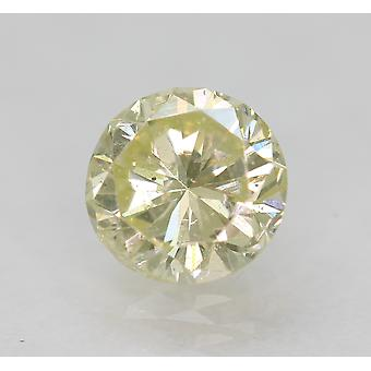 Certified 0.56 Carat K Color VS2 Round Brilliant Natural Loose Diamond 5.19mm