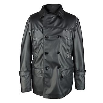 Glasgow mens lambskin double-breasted leather coat big and tall