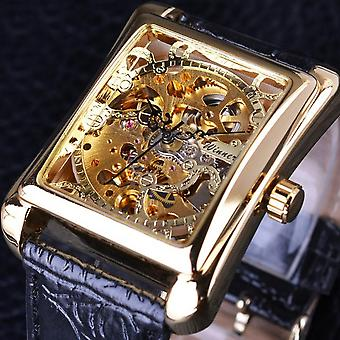 GMT983-1 Self-Wind Mechanical Watch Casual Style Rectangle Dial Stainless Steel