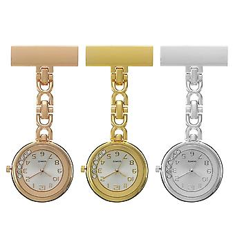 Casual Style Crystal Vintage Pocket Watch Stainless Steel Medical womens Nurse