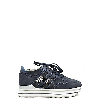 Hogan Ezbc030249 Women's Blue Leather Sneakers