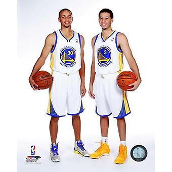 Stephen Curry & Seth Curry 2013 Posed Photo Print