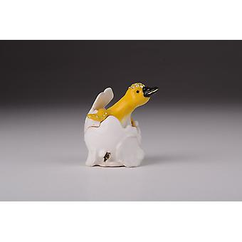 Duck Coming Out Of Eggshell Trinket Box