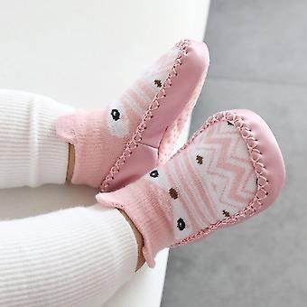 Bebé primeros caminantes dibujos animados bebé / niño pequeño, algodón zapatos para recién nacidos, suela suave