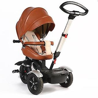 Multi-function's Tricycle High-end Leather Baby Bike Rotating Trolley