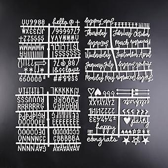Karakters voeldebrief bordnummers voor veranderlijke briefbord