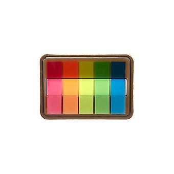 Creative Transparent Fluorescent Index Planner Classification Index Stickers