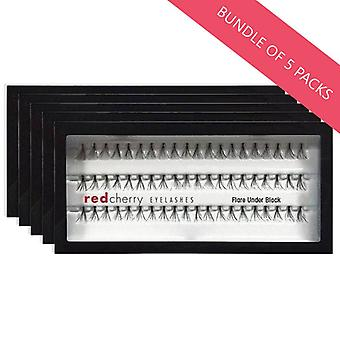 Red Cherry False Individual Lashes - Flare Under Black - Pack of 5