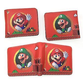 PU leather Coin Purse Cartoon anime wallet - Super Mario #256