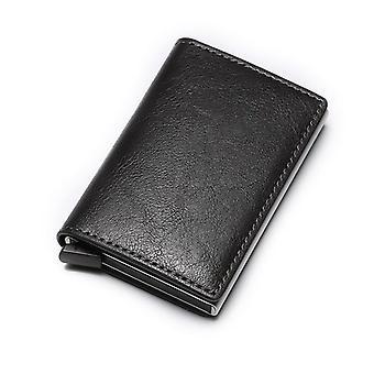 vesken mini aluminium metall slank visittkort lommebok / kredittkortholder