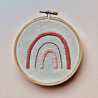 Coral Rainbow Diy Hand Embroidery Kit