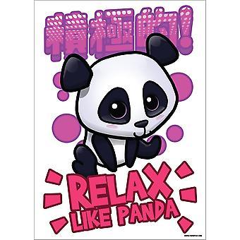 Handa Panda Relax Like Panda Poster