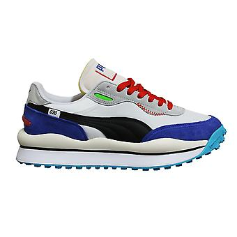 Puma Style Rider Ride On Multi Leather Lace Up Casual Mens Trainers 372839 01