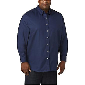 Essentials Men&apos's Big & Tall Long-Sleeve Oxford Shirt passar av DXL, Navy,...