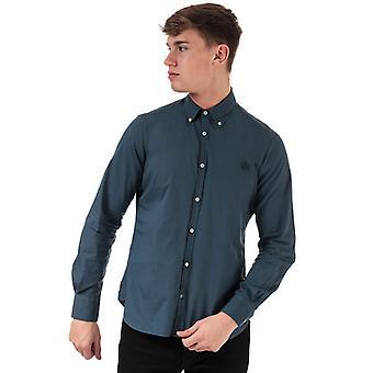 Men's Henri Lloyd Cotton Popeline Fitted Shirt in Blue