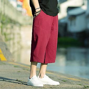 Męskie spodnie haremowe, spodnie pościelowe Lato Joggers