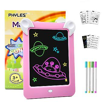 Phyles magic drawing doodle board, portable glow board, draw with light toys for kids,glow, draw, sk