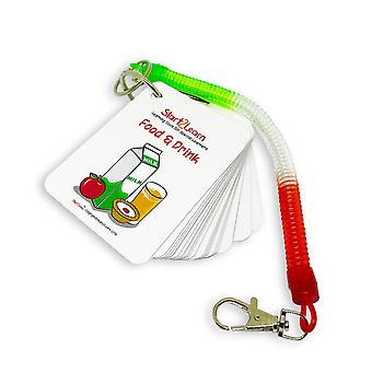 Start2learn: food & drink keyring picture exchange system (pecs) - autyzm wizualny pomocy r