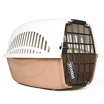 Hard Brown Pet Carrier - Large