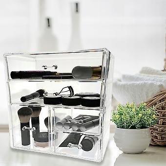 OnDisplay Cosmetic Makeup and Jewelry Storage Case Display - 3 Tier, 5 Drawer Design - Parfait pour la vanité, le comptoir de salle de bains, ou dresser
