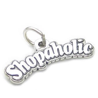 Shopaholic Sterling Silver Charm .925 X 1 Shopping Shopper Charms - 4060