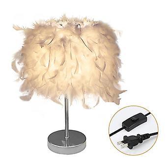Bordlampe til soveværelseslys (lille stil en tænd/sluk-knap)