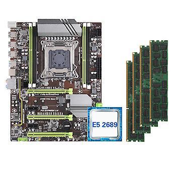X79 Motherboard Set With Xeon E5 2689 4x8gb=32gb 1600mhz Ddr3 Ecc Reg Memory