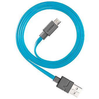 Ventev charge sync Micro USB Cable (6ft) - Blue