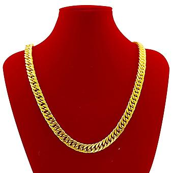 Collier plaqué or cubain Mens Miami 10mm