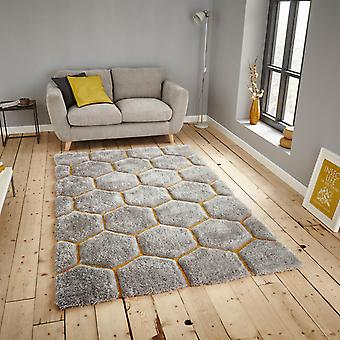 Noble House Rugs Nh30782 In Grey Yellow
