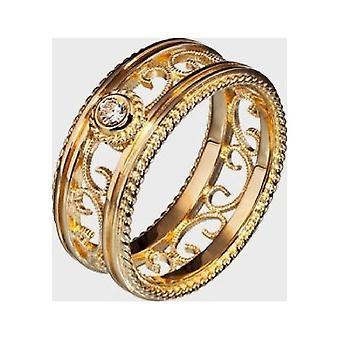 Kalevala Ring Women's Filigree 14K Gold Diamond 140755106215 Ring Width 68