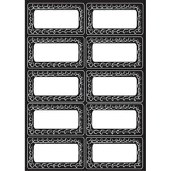 Die-Cut Magnetic Chalk Loop Labels/Nameplates, 10 Pieces
