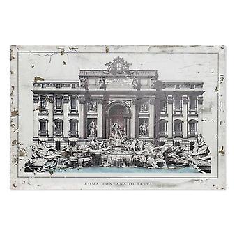 Pintura Dekodonia Roma Fontana Di Trevi Madeira Tradicional (120 x 3 x 80 cm)