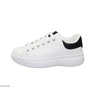 Schoenen Dames Sneaker Us Polo Mod. Miriam Club In Ecopelle Off Wit/ Zwart D21up03