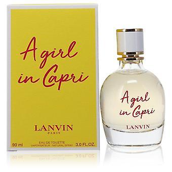 Ein Mädchen in Capri Eau De Toilette Spray von Lanvin 3 oz Eau De Toilette Spray